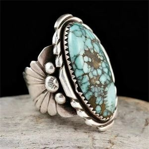 ‼️3 for 20$‼️Antique Silver Turquoise Ring